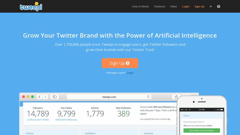 Tweepi Landing Page