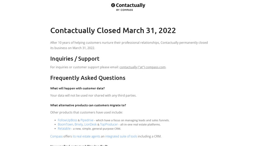 Contactually Landing Page
