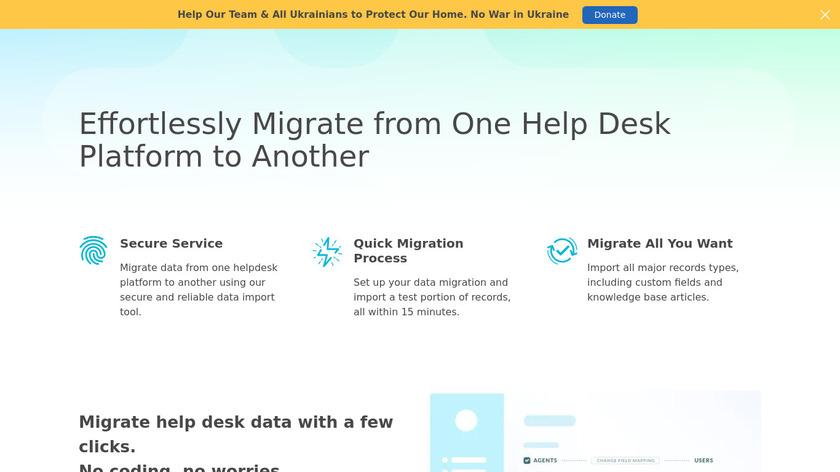Help Desk Migration Landing Page