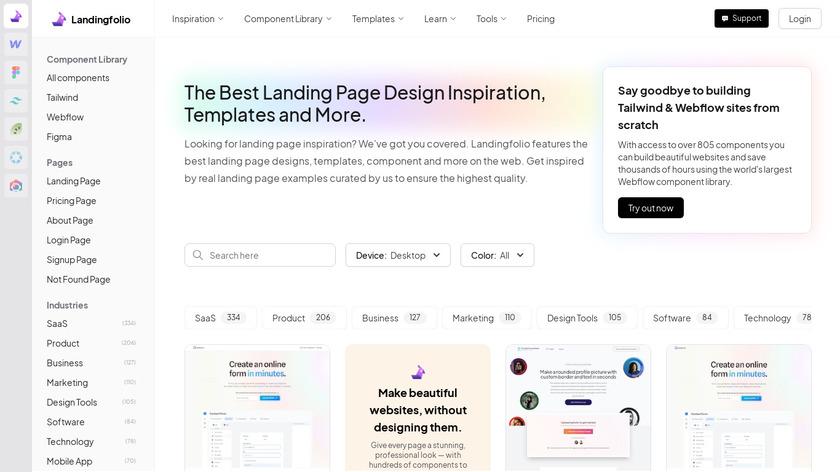 Landingfolio Landing Page
