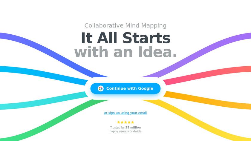 MindMeister Landing Page