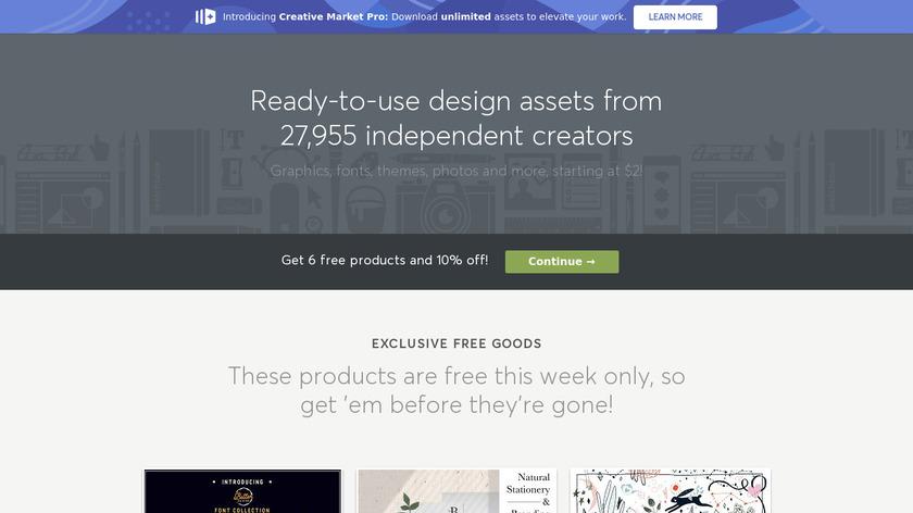 Creative Market Landing Page