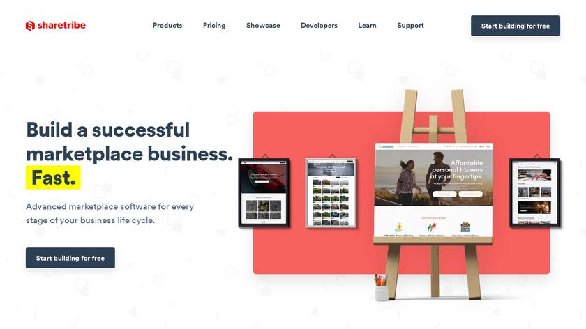 Sharetribe Landing Page