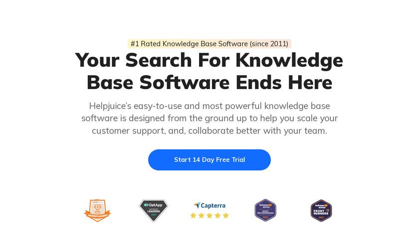 HelpJuice Landing Page