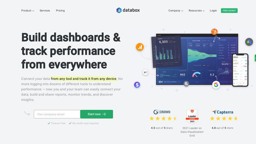 Databox Landing Page