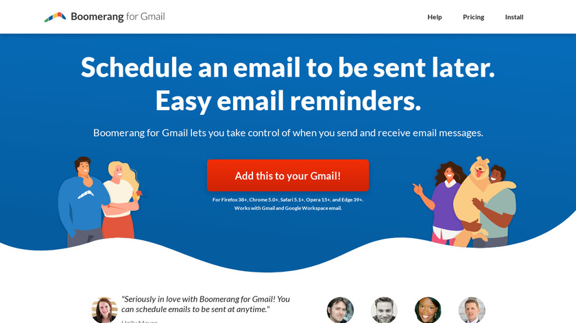 Boomerang for Gmail Landing Page