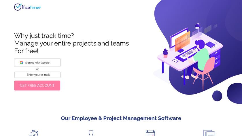 OfficeTimer Landing Page