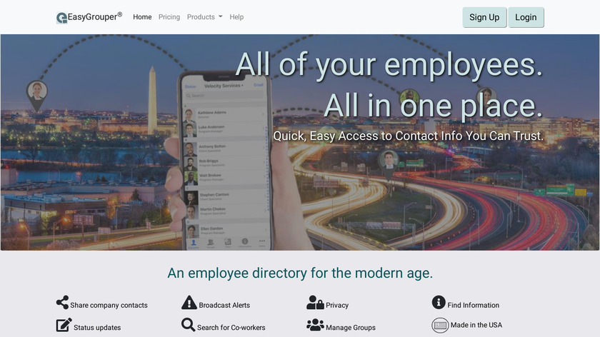 EasyGrouper Landing Page