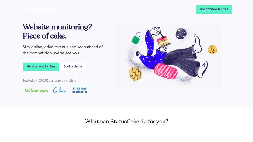 StatusCake Landing Page