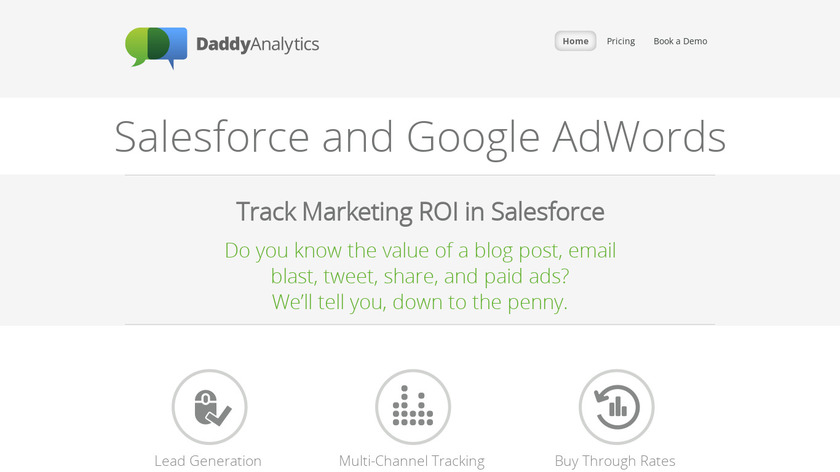 Daddy Analytics Landing Page