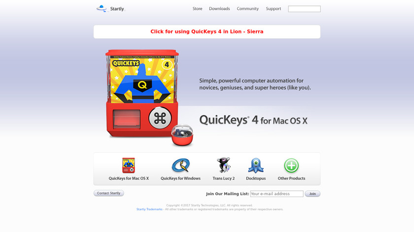 QuicKeys Landing Page