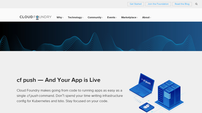 Cloud Foundry Landing Page