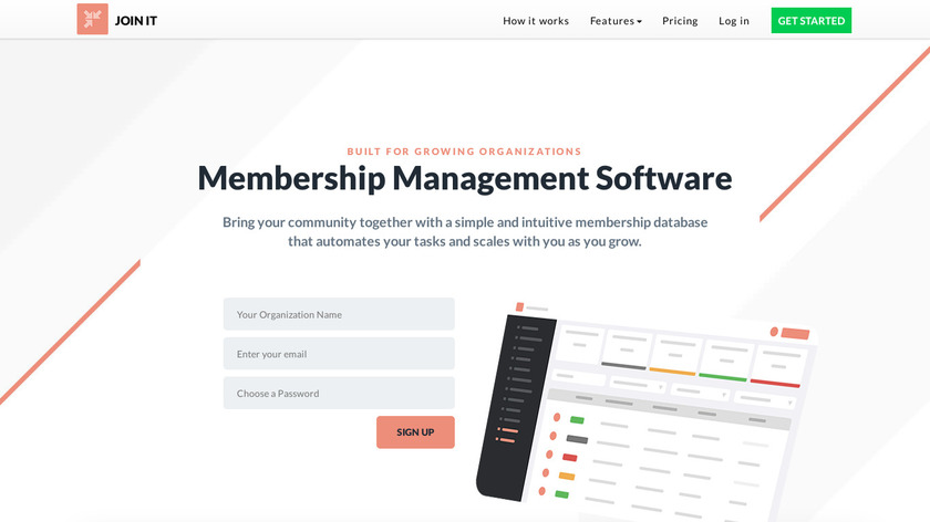 Join it Landing Page
