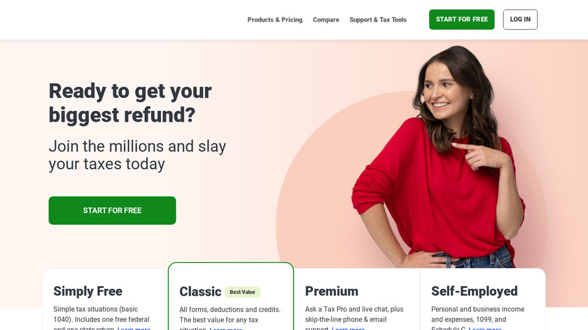TaxSlayer.com Landing Page
