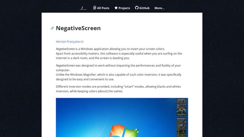 NegativeScreen Landing Page