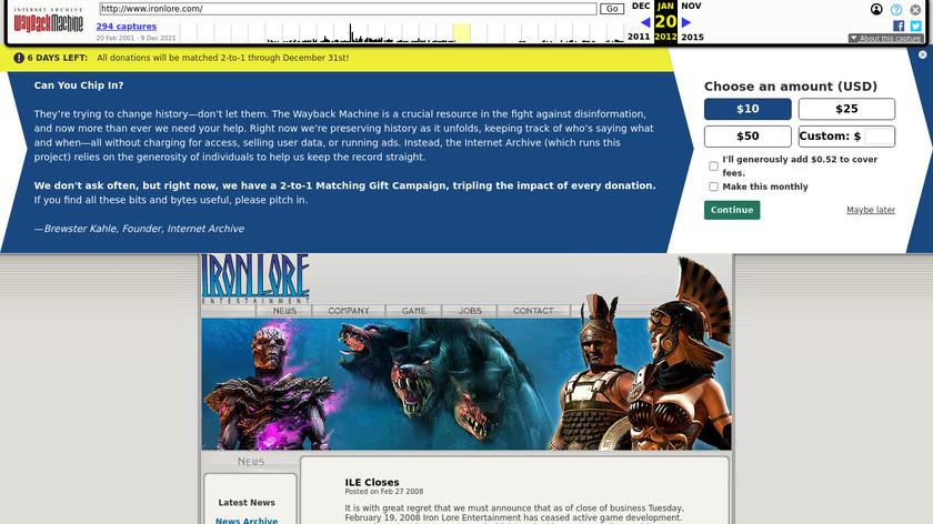 Titan Quest Landing Page