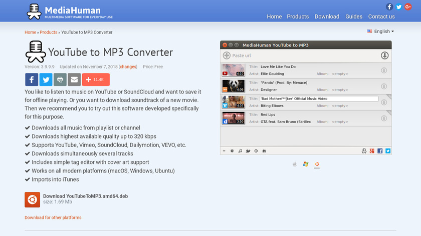 YouTube to MP3 Converter Landing Page
