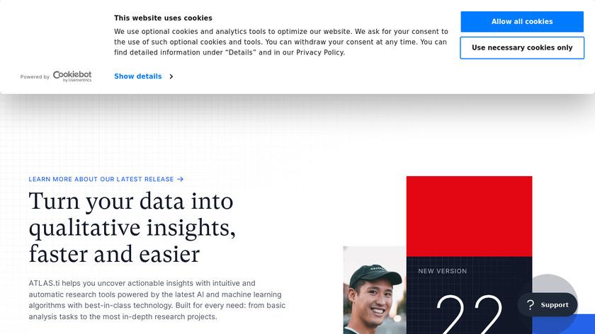 ATLAS.ti Landing Page