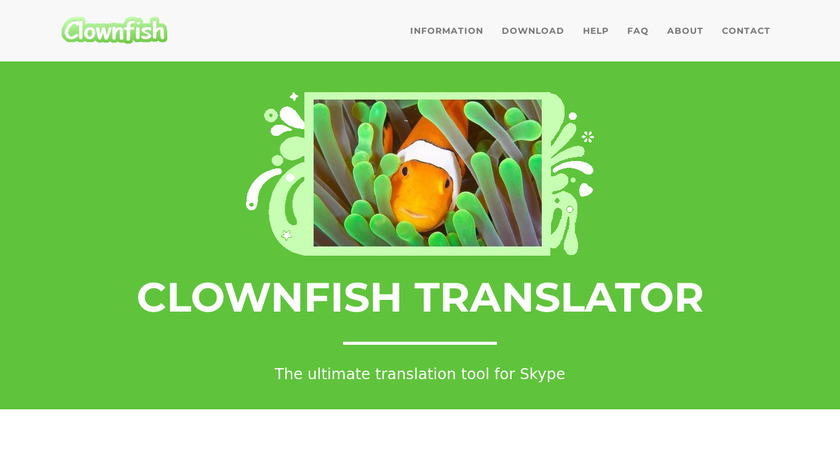 Clownfish for Skype Landing Page