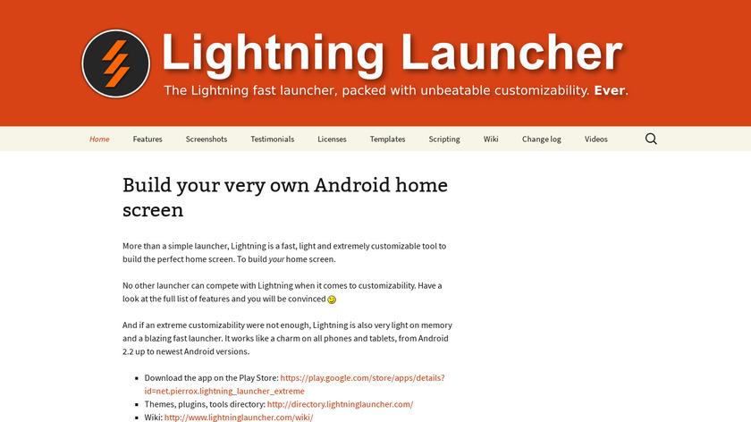Lightning Launcher Landing Page