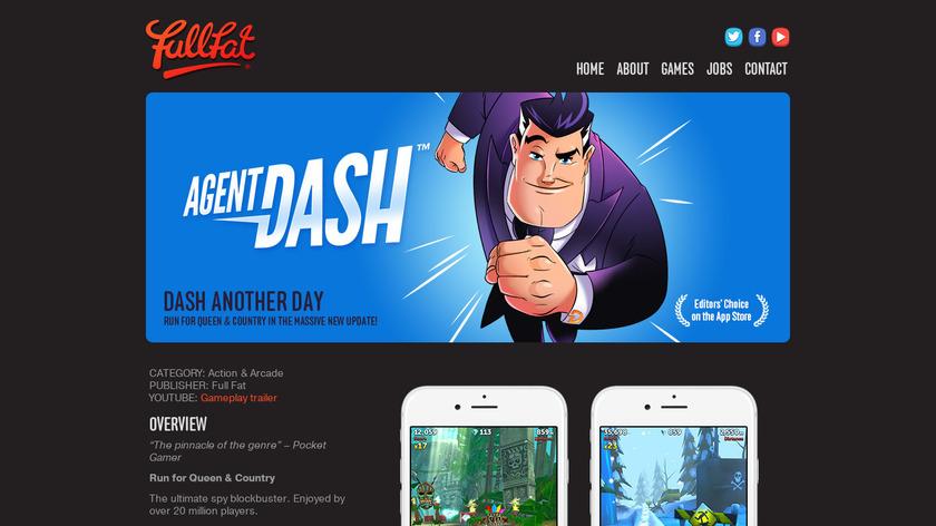 Agent Dash Landing Page