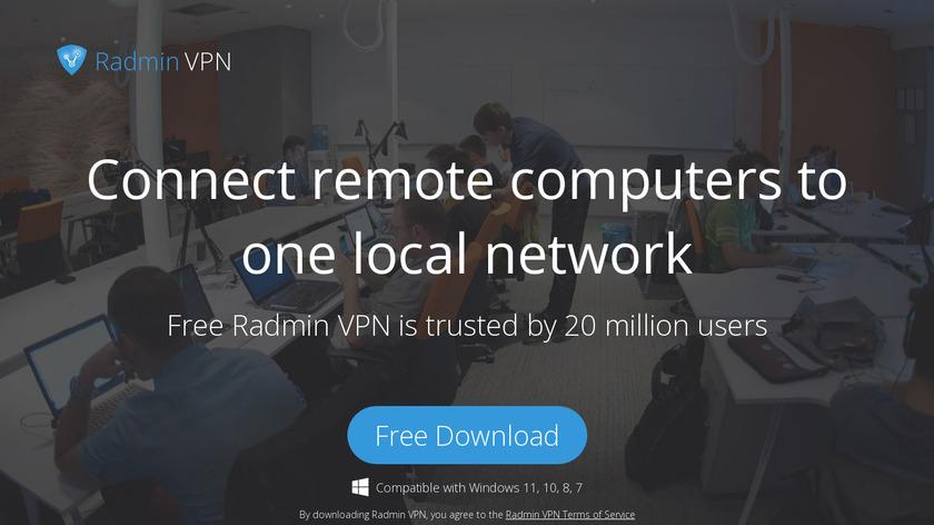 Radmin VPN Landing Page
