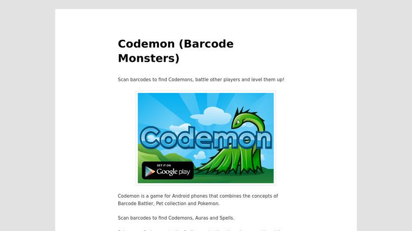 Codemon Landing Page