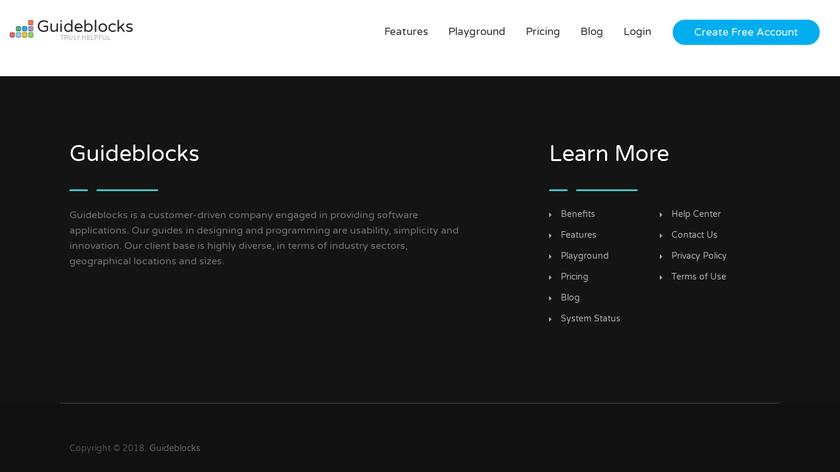 Guideblocks Landing Page