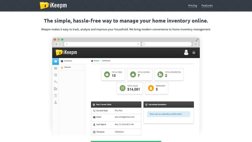iKeepm Landing Page