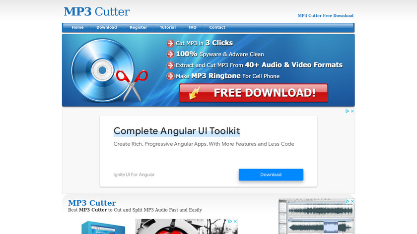 MP3 Cutter Landing Page