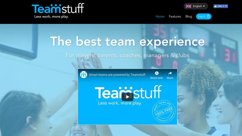 Teamstuff Landing Page