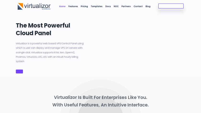 Virtualizor Landing Page