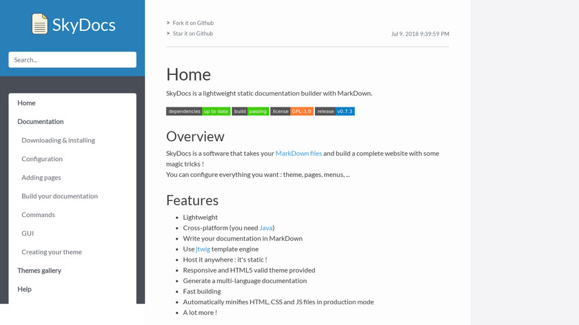 SkyDocs Landing Page