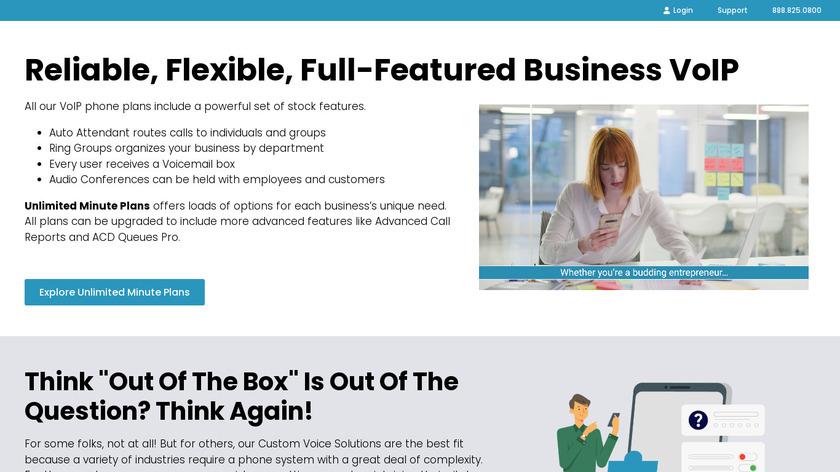 VirtualPBX Landing Page