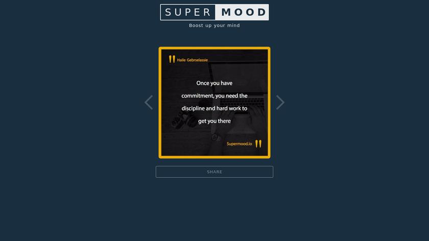 SUPERMOOD Landing Page