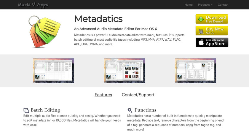 Metadatics Landing Page