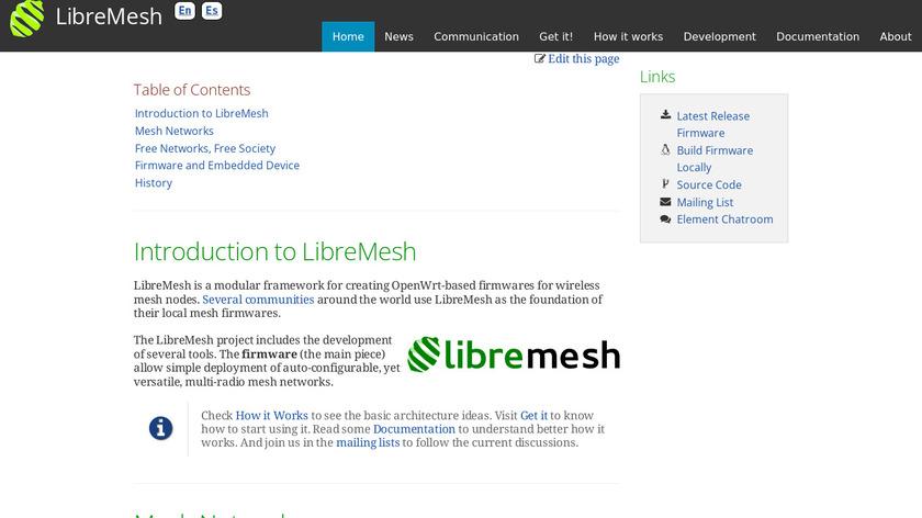LibreMesh Landing Page