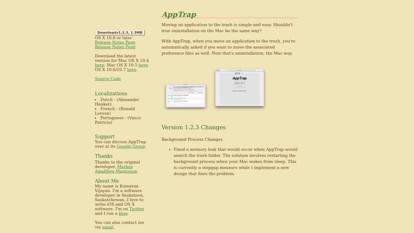 AppTrap Landing Page