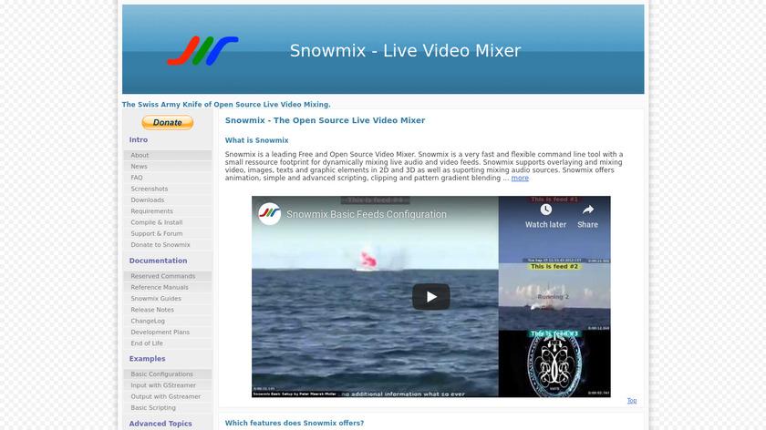 Snowmix Landing Page