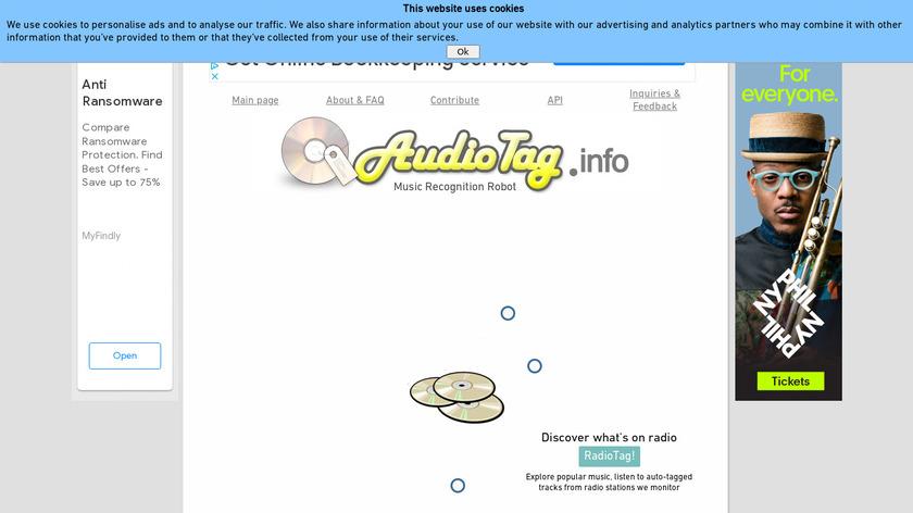 AudioTag Landing Page