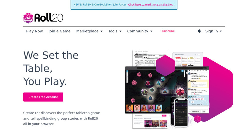 Roll20 Landing Page