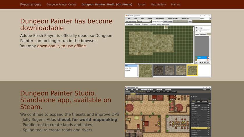 Dungeon Painter Landing Page
