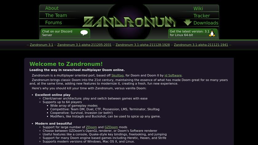 Zandronum Landing Page