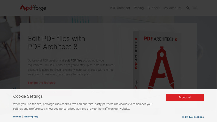 PDF Architect Landing Page