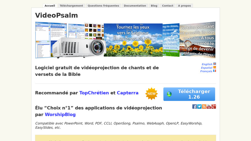 VideoPsalm Landing Page