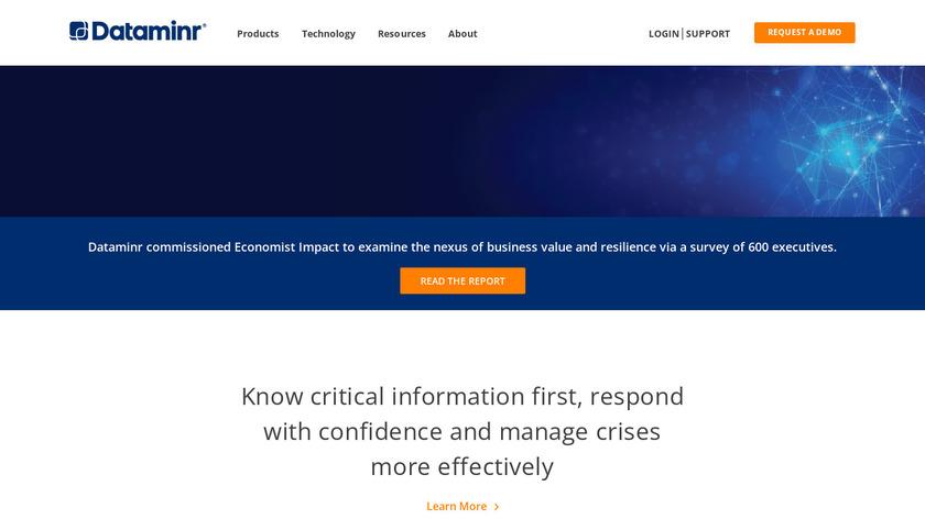 Dataminr Landing Page