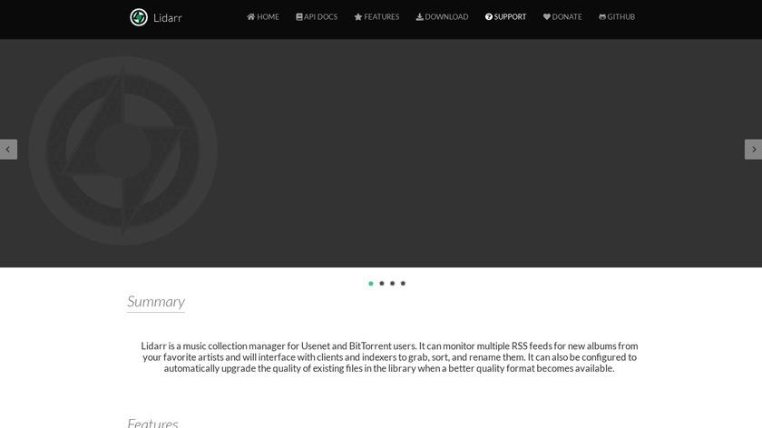 Lidarr Landing Page
