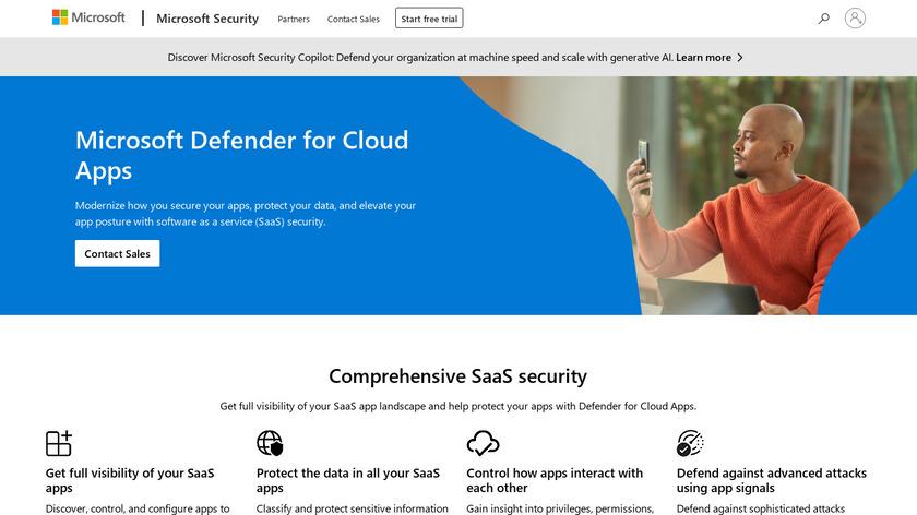 Microsoft Cloud App Security Landing Page
