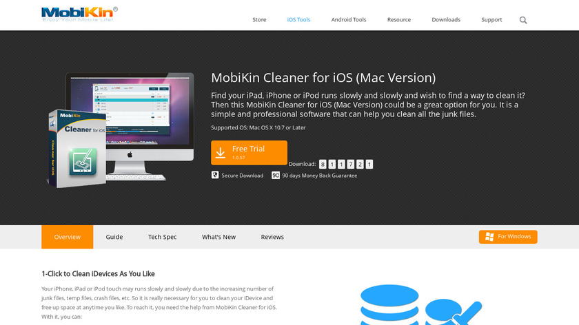 MobiKin Cleaner for iOS Landing Page