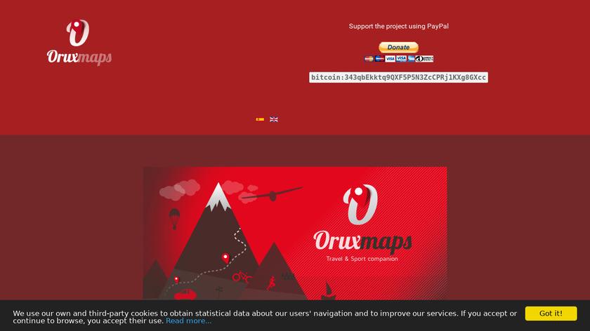 OruxMaps Landing Page